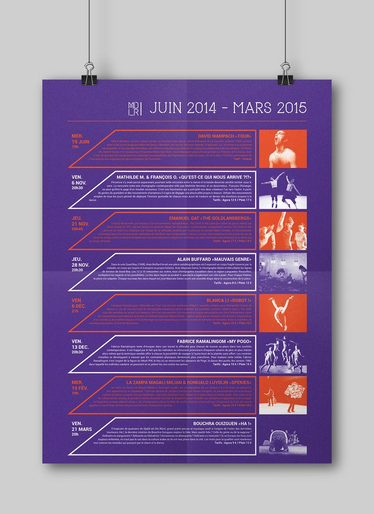 "#Poster #Calendar #Brochure   Check out this @Behance project: ""MONTPELLIER DANSE"" https://www.behance.net/gallery/41487581/MONTPELLIER-DANSE"