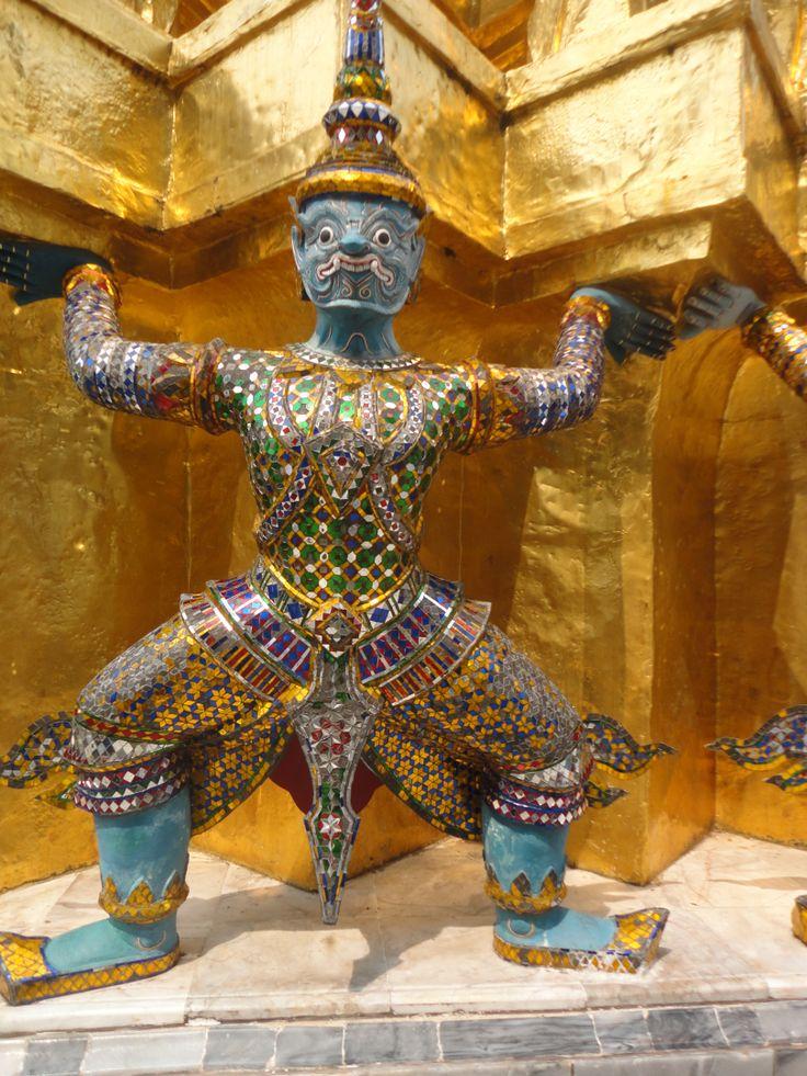 Temple guardian, Grand Palace, Bangkok, Thailand. Photo: Pat Hinsley