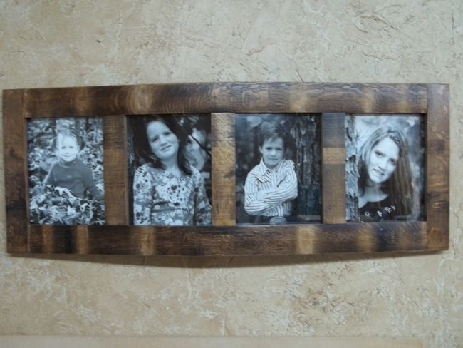 Using wine barrel staves to make a frame