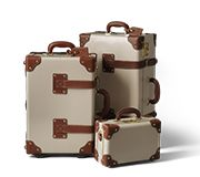 The Diplomat in Cream | Vintage leather vanity case | SteamLine Luggage