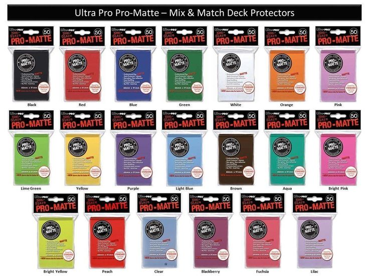 Other MTG Items 218: Pro Matte Ultra Pro Mtg Pokemon Deck Protectors 600 Mix And Match 20 Colors -> BUY IT NOW ONLY: $32.99 on eBay!