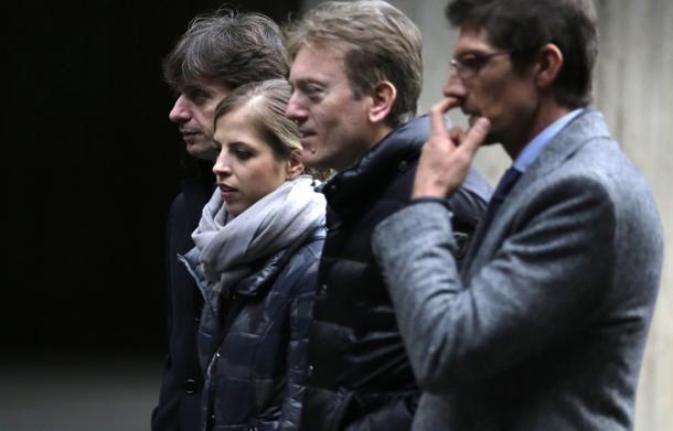 #CarolinaKostner con gli #avvocati Giovanni Fontana, Massimiliano Di Girolamo e il teste Giuseppe Gambardella