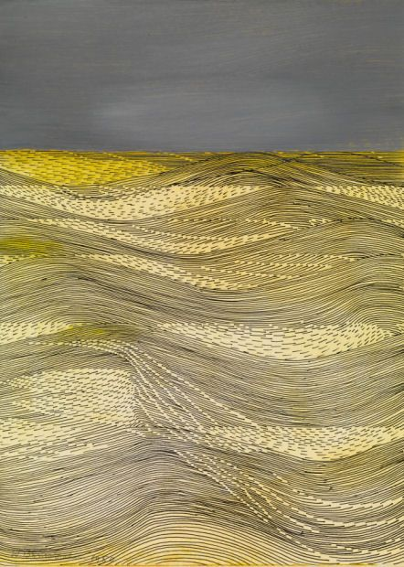 Wilhelmina Barns-Graham ~ Against the Wind, 1980 (mixed media on card)