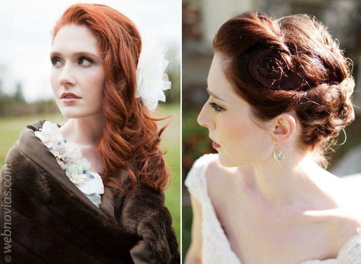 Novias pelirrojas: el maquillaje ideal www.webnovias.com/blog