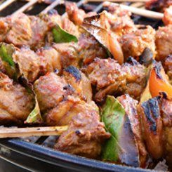 Sosaties Sosaties on the BBQ have never tasted better especially when there is Boerewors on offer too. These kebabs can contain many types of meat (or vegetables) but lamb sosaties seem to always taste the best.
