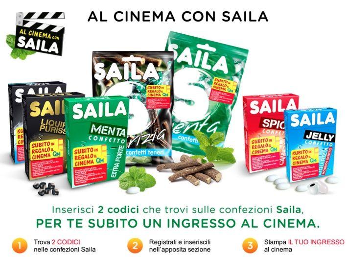 Saila ti regala il cinema: biglietti gratis come premio sicuro
