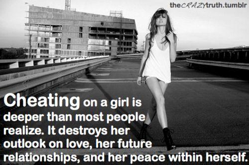 Cheating. So true!