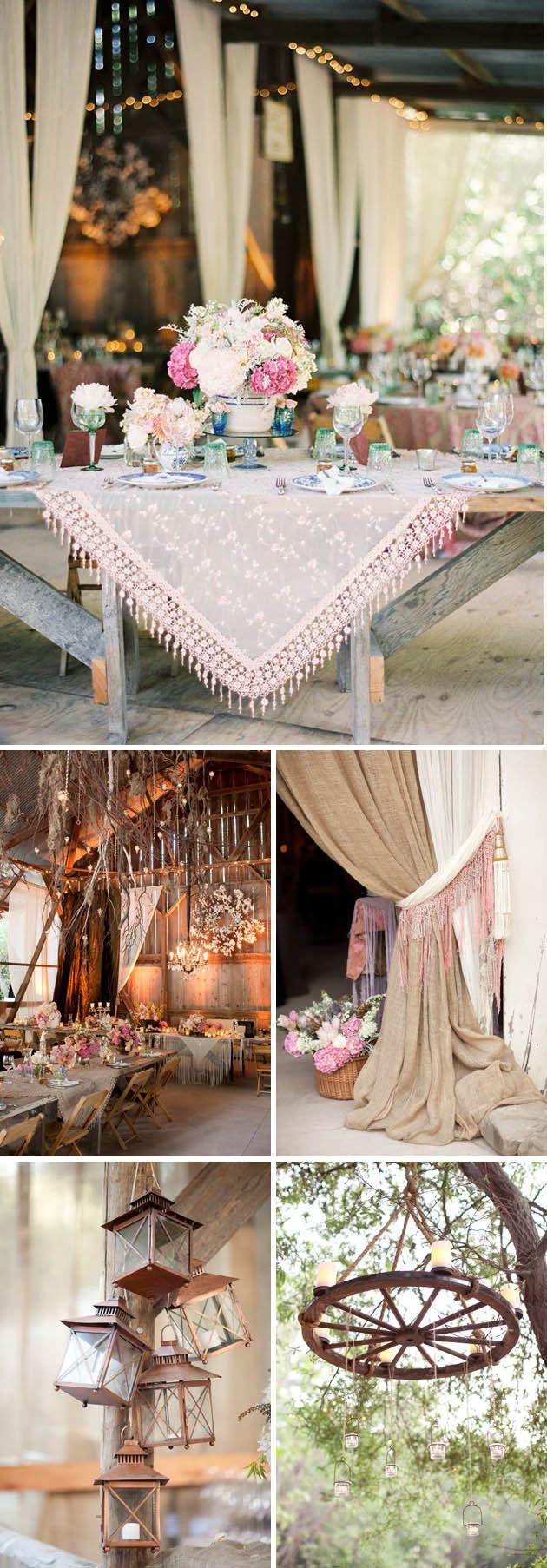 Bohemian wedding decoration