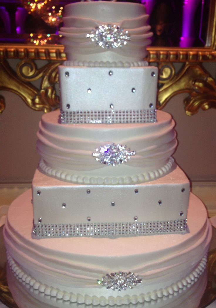 Wedding Cake with Broaches and Bling