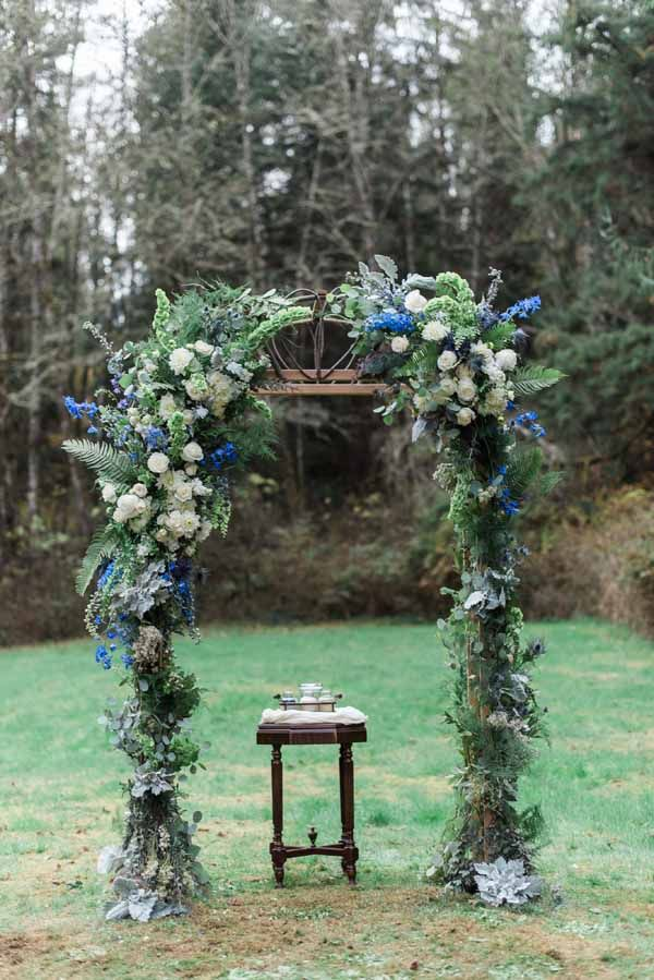 Check out our top 10 floral wedding elements involving chuppahs, canopies, and other modern twists on the classic floral arch.