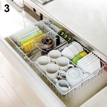 えつこのキッチン収納ラック 国産 | Etsuko kitchen storage rack (in-drawer storage solution)