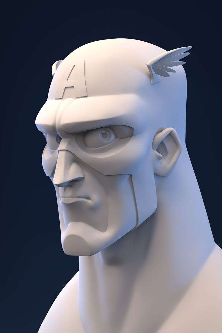 Hi there, This is a personal sculpt of Captain America I did yesterday during my spare time. I did my first Timelapse with Zbrush on this project so check it out ! People ask me how to keep the model clean from the beginning to the end of the project, maybe this record will help you guys, I hope. I thought it would be cool to share with you my Renderman scene, what you think about it? You can comment these out Concept art from the great RANDY BISHOP ! 8 hours.
