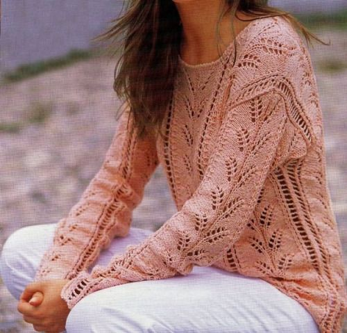 lacy pullover sweater