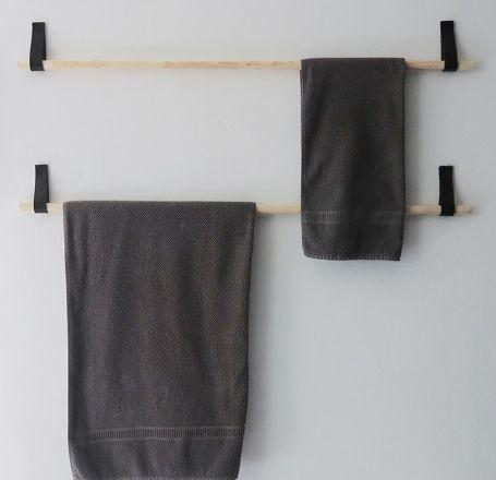 DIY: maak je eigen handdoekenrek
