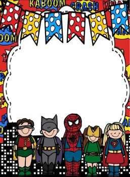Superheroes Paper Borders And Frames Borders For Paper