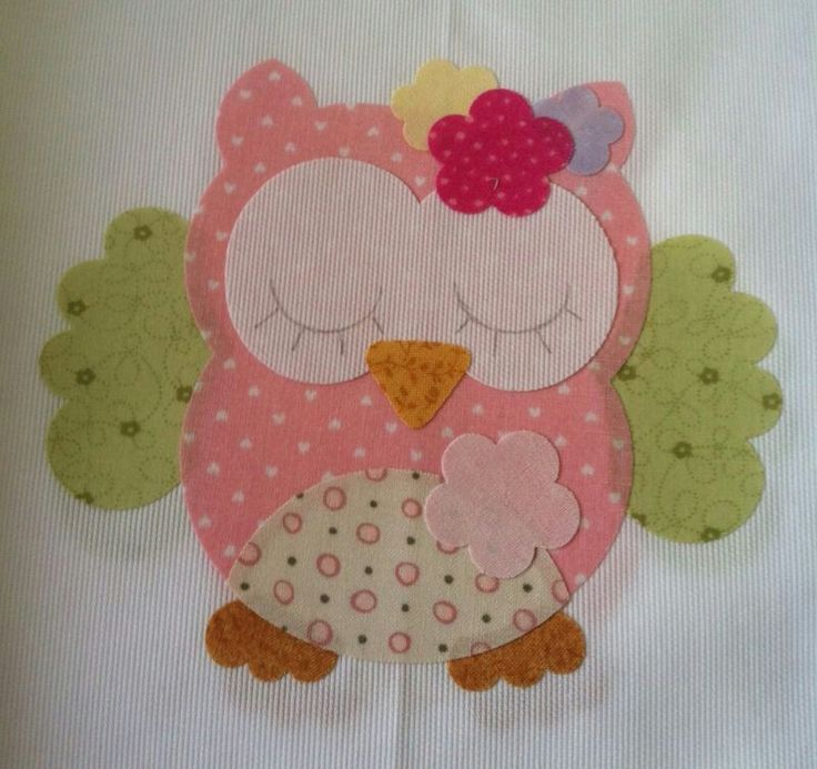 Aplique para toalha de bebe adorable owl