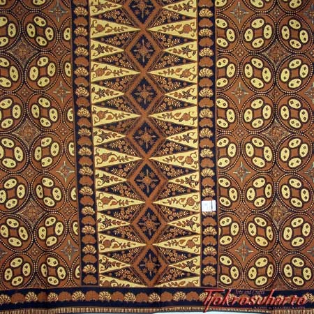 Indonesian batik motif from the sultan's court at Solo, Java.