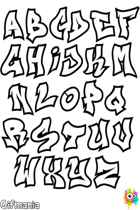 Dibujo de Letras de graffiti para Colorear
