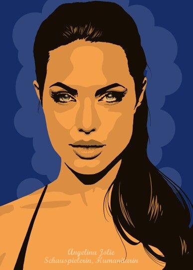Angelina Jolie. Als Poster erhältlich auf meiner Webseite: goo.gl/jvgwQl