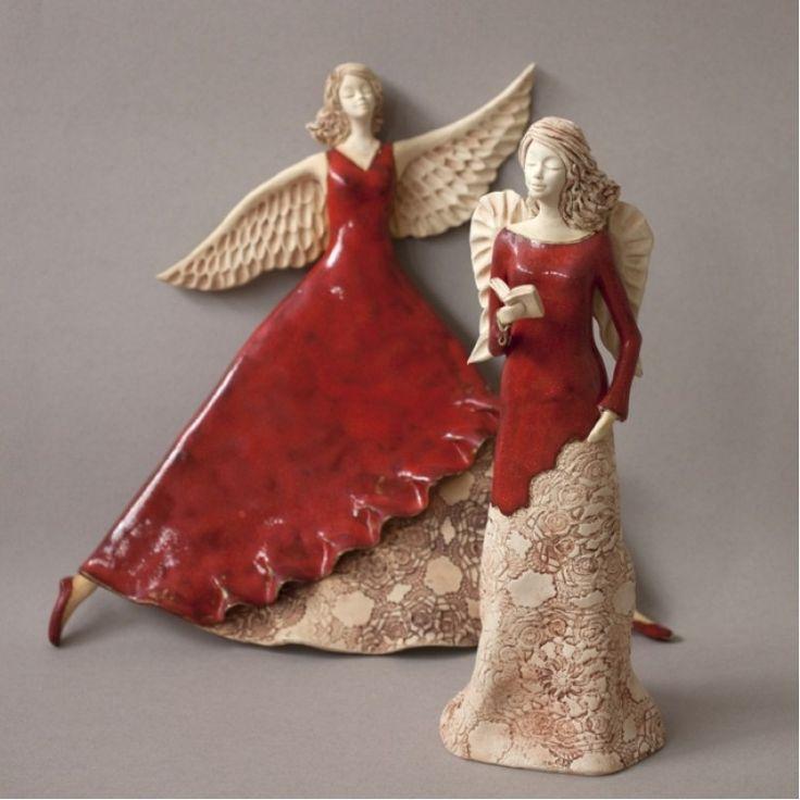 Anioł tańczący - czerwony