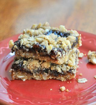 Fig crumble bars from Baking Bites. If they're anything like Fig Newtons, I'm sold.
