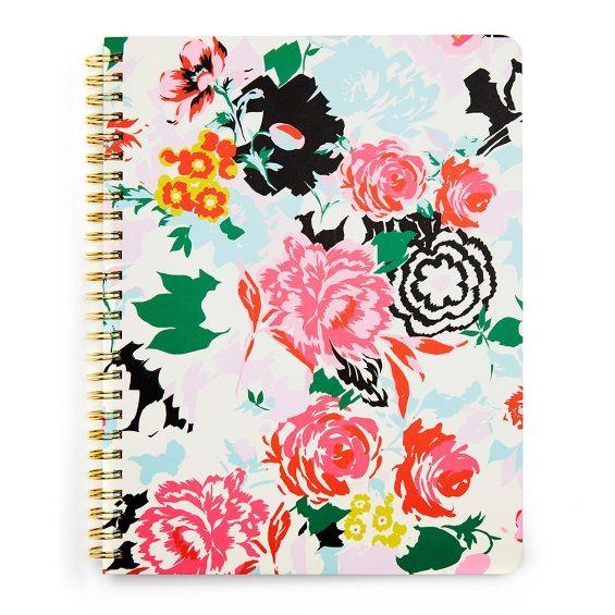 Ban.do Rough Draft Spiral Notebook - Florabunda