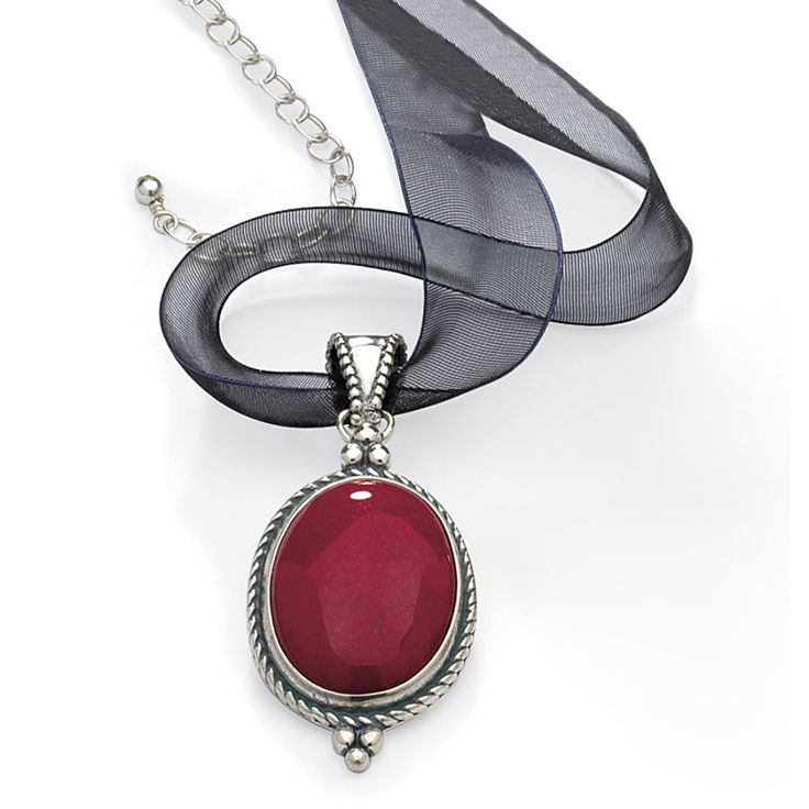 Sterling Silver and Red Agate Necklace - Women's Clothing, Unique Boutique Styles & Classic Wardrobe Essentials