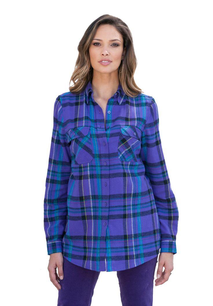 Plus size flannel plaid bigshirt highbrow lowbrow for Plus size plaid flannel shirt