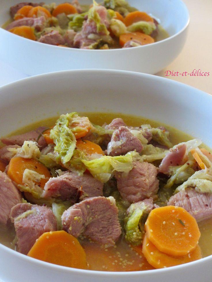 Palette mijotée aux carottes et chou chinois au cook expert