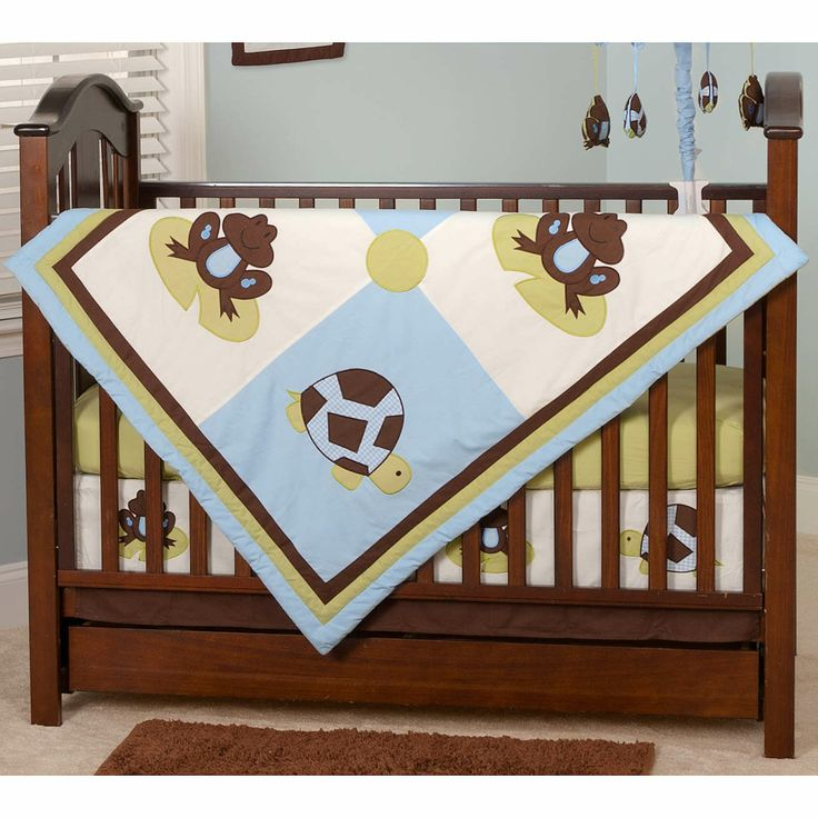 Baby Turtle Bedroom Sets | Mr And Mrs Pond Turtle And Frog 10 Piece Crib  Bedding