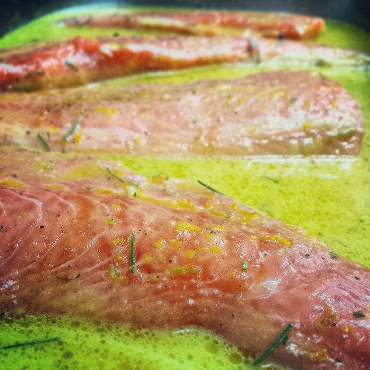 #Marinade #rosemary #lime and #orange #salmon #marinade_salmon  follow me on instagram https://instagram.com/cbountos/