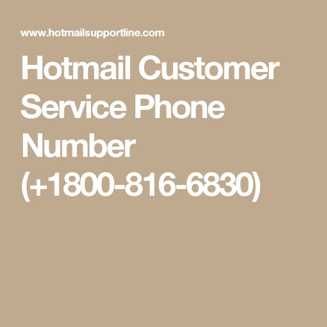 Hotmail Customer Service Phone Number (+1800-816-6830)