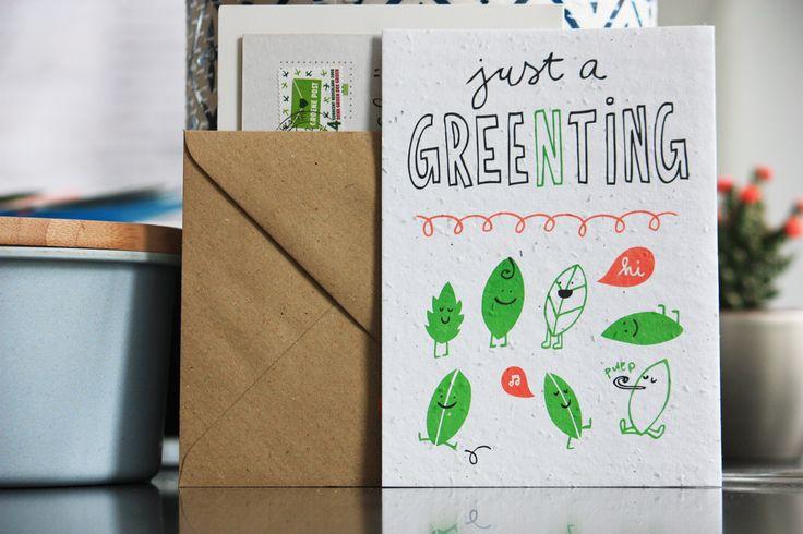 niko niko plantable postcards Just a gree(n)ting