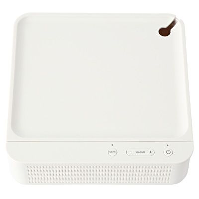 Muji charging tray and speaker (bluetooth) for phone