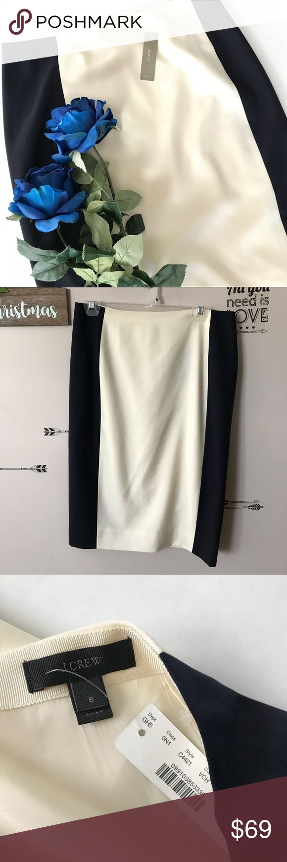 """NWT J. Crew Pencil Skirt Measures 16"""" across and is 25"""" long.   From a smoke free, pet friendly home.   All offers considered, or bundle your likes for a discount 👗 J. Crew Skirts Pencil"""
