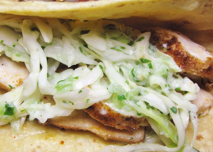Fish tacos with cabbage slaw very good use less for Cabbage slaw for fish tacos