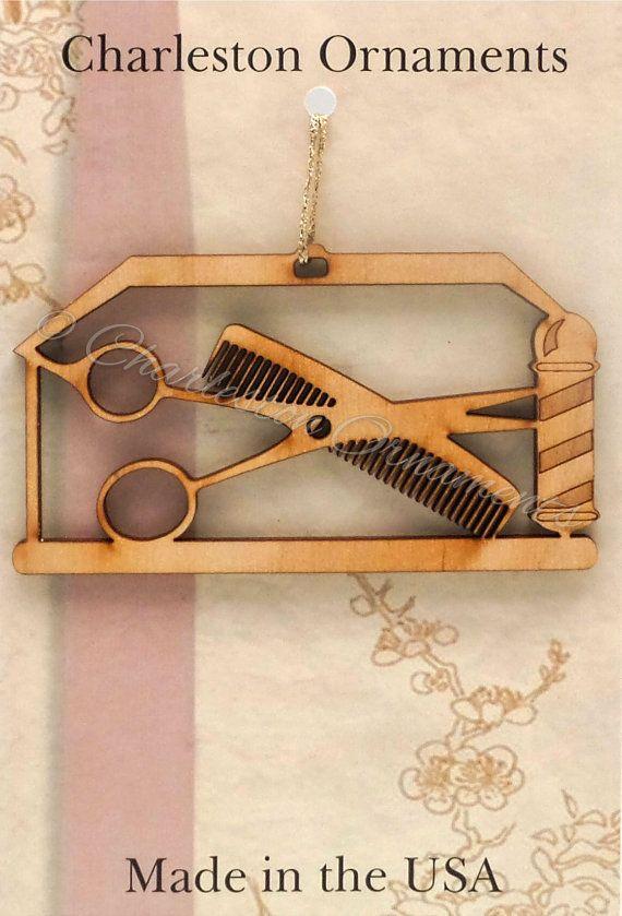 Barber Ornament  Barber Gift  Barber by PalmettoEngraving on Etsy