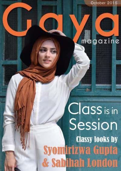 Gaya Magazine October 2015 Issue. Modest fashion by international bloggers. Download free. #hijab #hijabi #modest #fashion #style #blogger #womensfashion