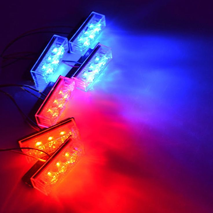 14.55$  Buy now - http://alih67.shopchina.info/go.php?t=32755530811 - Car styling Automobiles 18 LED Car Police Strobe Flash Light Auto Emergency Grill LED Lamps 3 Flashing Modes Blue and Red  #magazineonline