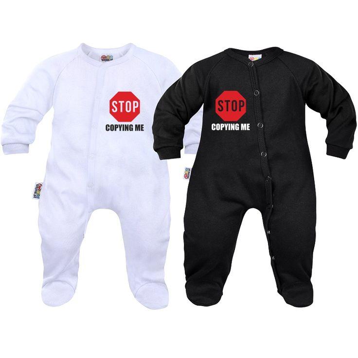 2 pyjamas bébé jumeaux et jumelles : stop copying me - SiMedio