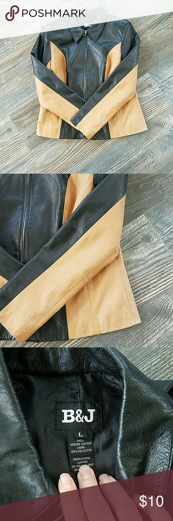 🎉sale🎉Vintage B & J real leather jacket! Selling this vintage leather jacket! Does have shoulder pads but can easily be removed! Beautiful leather a little wear around the arms but not bad at all. Does need a little cleaning has a pen mark. But other then that a beautiful leather jacket! B&J Jackets & Coats