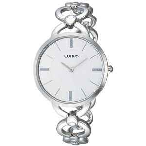 Stainless Steel Ladies Dress with White Dial. #loruswatches #Swish