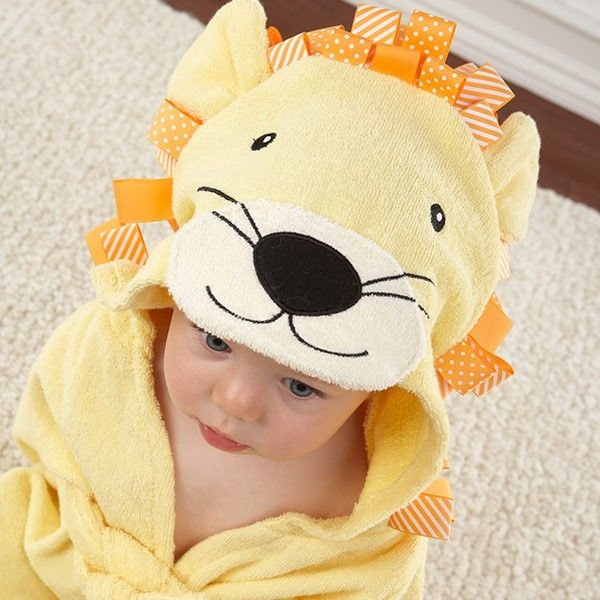Peignoir bébé lion jaune