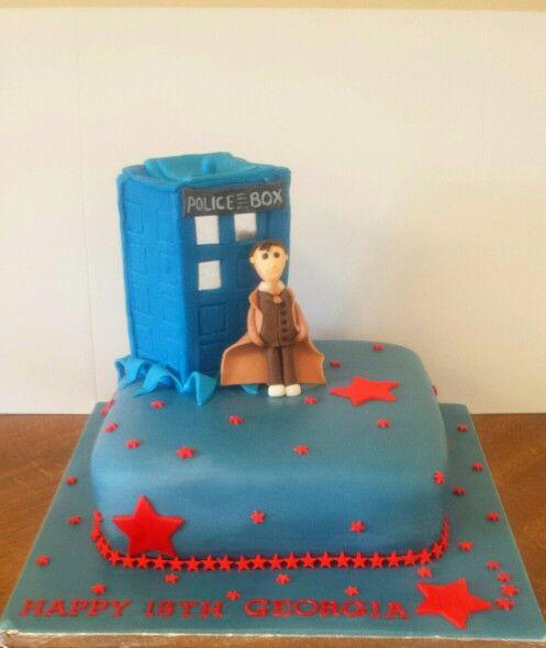 Dr Who and tardis cake.