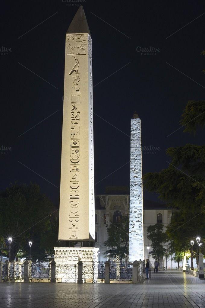 Obelisk of Theodosius by jcfmorata - Photography on Creative Market