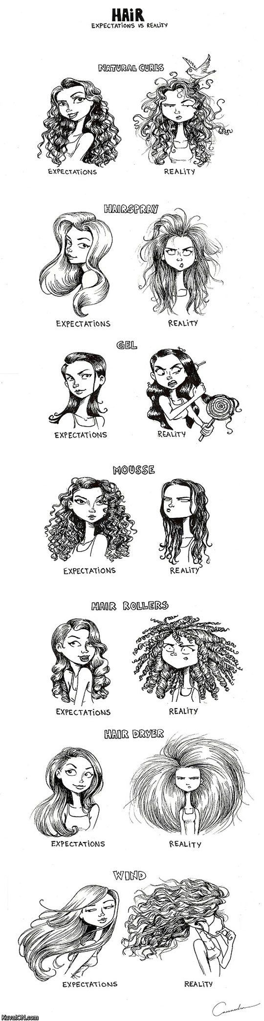 Expectations vs reality hairstyling