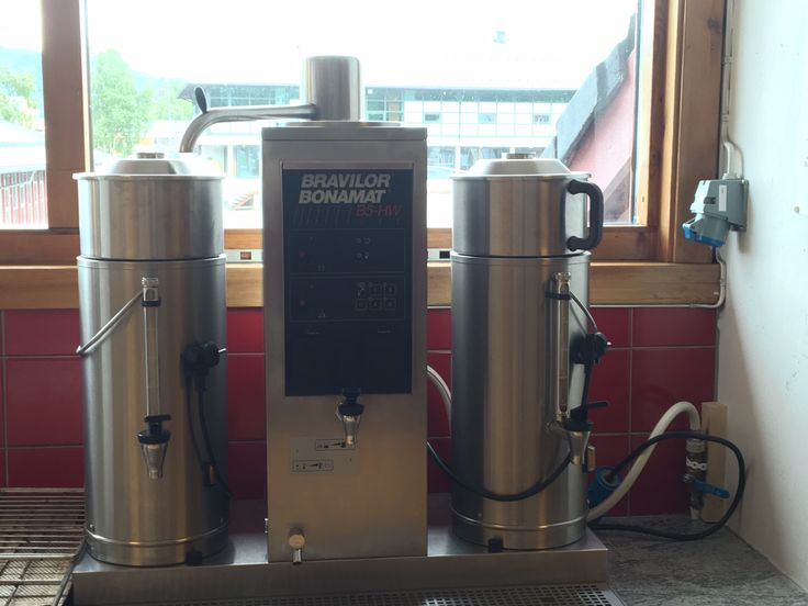Kaffetrakter 2 x 5 l kaffe. Anbefalt bruk av KOKEKAFFE.