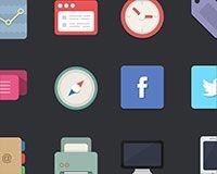 Free download: 48 flat designer icons http://www.webdesignerdepot.com/2013/08/free-download-48-flat-designer-icons/