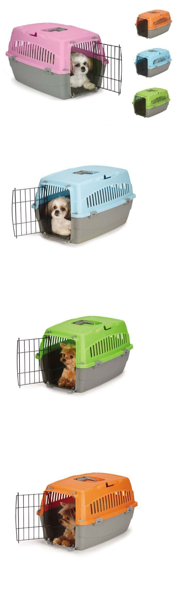 Carriers and Totes 177788: Small Dog Cat Pet Travel Crate Lightweight Pet Carrier Plastic And Wire Kennel Cab -> BUY IT NOW ONLY: $45.89 on eBay!