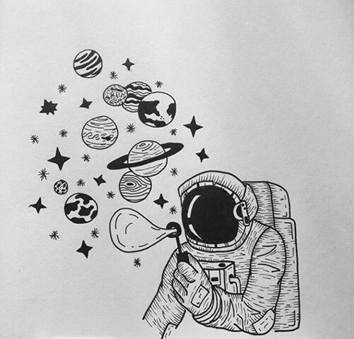 #Astronaut #Space #Uzay #Cosmos #Galaxy #Drawing #Art #Illustration Amazing Follow for more! Tumblr: @Bedenehapsedilenruhlar
